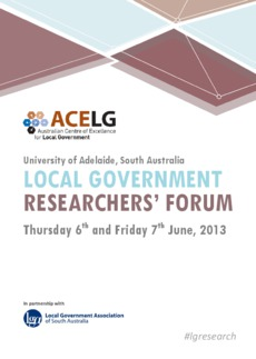 a local government research Local government is responsible for many essential services and a research career in this sector is an opportunity for you to contribute to the wellbeing and development of local communities.